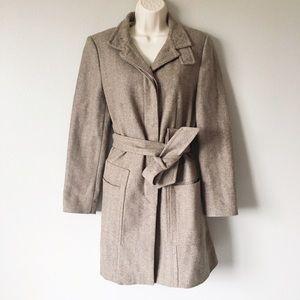 Zara Long Belted Wool Coat
