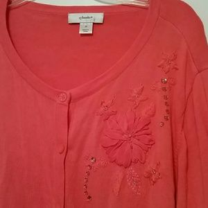 cj banks Sweaters - Coral cj banks 3/4 sleeve sweater cardigan