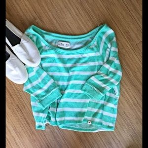 Hollister Tops - Hollister striped crop top. Spring is almost here!