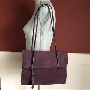 Hillard & Hanson Handbags - Hilliard & Hanson Microsuede Bag