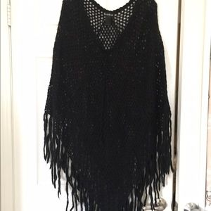 Boho Crochet Poncho