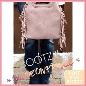 〰FRESH TAKE on a FRINGED Crossbody/Bag in Taupe...