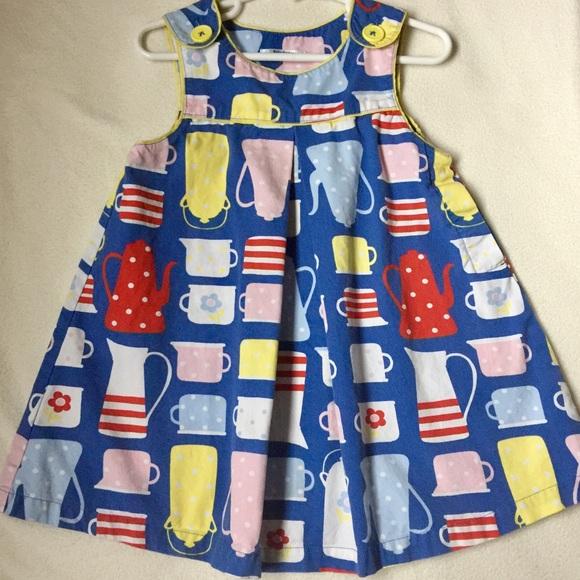 a397e5e6cc7a Mini Boden Pinafore Dress -Teapots Size 2-3 Years.  M_589f88046a5830c2d101b02c