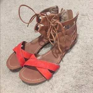 Size 7 Dolce Vita Sandals tan/orange