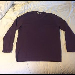 Kenneth Cole cotton V neck sweater
