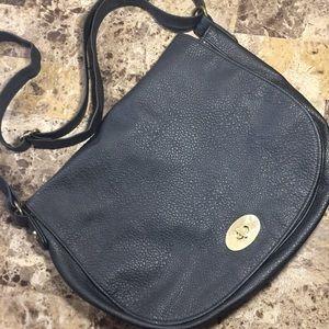 H&M Black Crossbody Messenger Satchel Bag!
