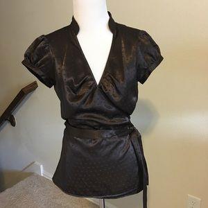 EUC chocolate brown Express blouse size Sm