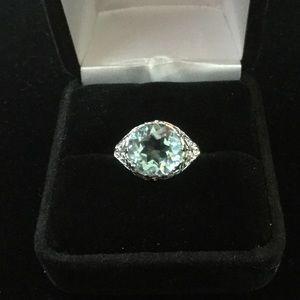 Auction Jewelry - Aqua-Blue Topaz Ring