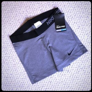 "NIKE Women's Dri Fit Pro 3"" Shorts. Gray"