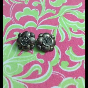 Jewelry - Vintage Sterling Silver Marcacite Earrings