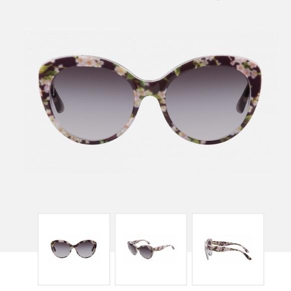 2a86f8deb71c Dolce   Gabbana Accessories - Dolce   Gabbana Floral Plastic Sunglasses