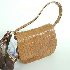 Francesco Biasia Handbags - Francesco Biasia Tan Leather Sholder Bag