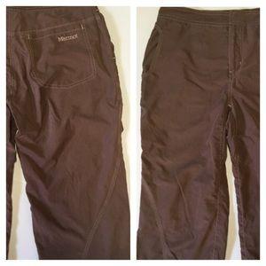 Marmot Pants - Marmot Spring Brown Wicking Hiking Capri Crops