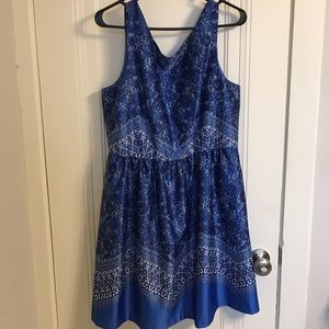 The Limited Dresses & Skirts - The Limited Blue Tea Flare Dress
