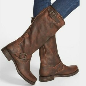 Frye Shoes - NEW FRYE VERONICA SLOUCH TALL BROWN BOOTs knee