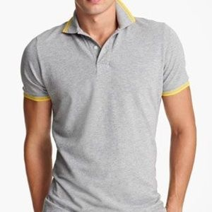 Jack Spade Other - Jack Spade gray polo with blue collar.