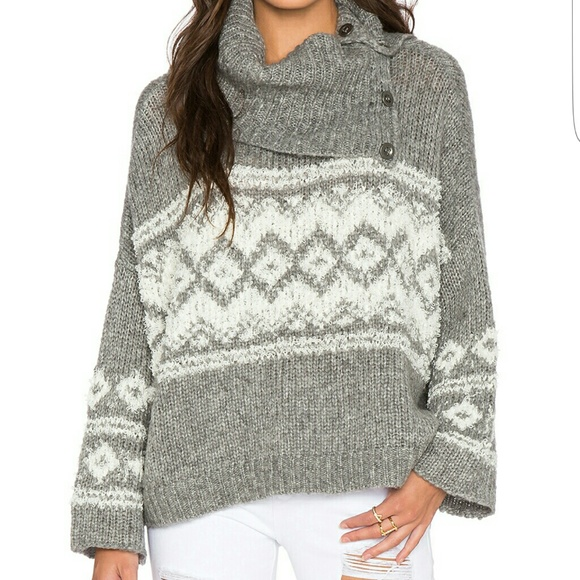 68% off Free People Sweaters - Free People Fair Isle Split Neck ...