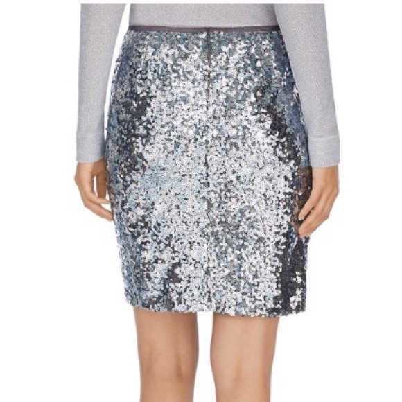 3947491031 Sequins pencil skirt White House Silver color. M_589f99244225be642d01ea70