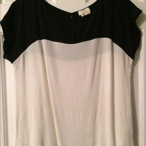Kate spade black and white crepe shirt
