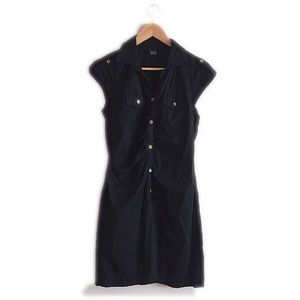 Chesley Dresses & Skirts - Chesley black button down cap sleeve dress