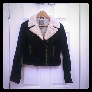 BB Dakota Jackets & Blazers - Corduroy jacket with fur collar