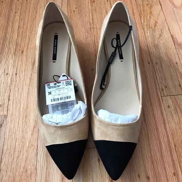 d35a1edc4f7 Zara cap toe block heel