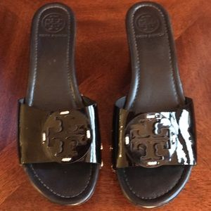 Tory Burch Patent Leather Wedges