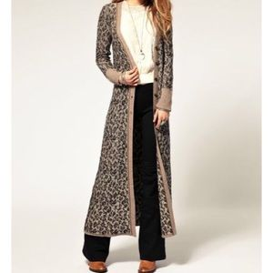 88% off Free People Sweaters - 🎉🎀HP🎀🎉 Free people long leopard ...