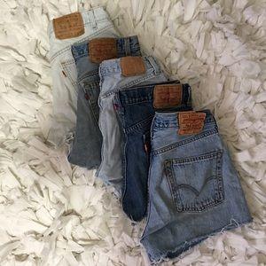 Nike Denim - High waisted Levis shorts •various sizes•