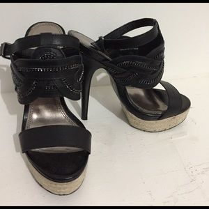 Bakers Shoes - Bakers•Marlene Black Platform Heels•Size 5.5