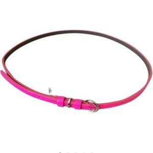 Hot pink Banana Republic skinny belt