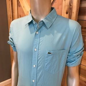 Lacoste Other - 😎 Lacoste Long Sleeve Button Down Size 42 (L)