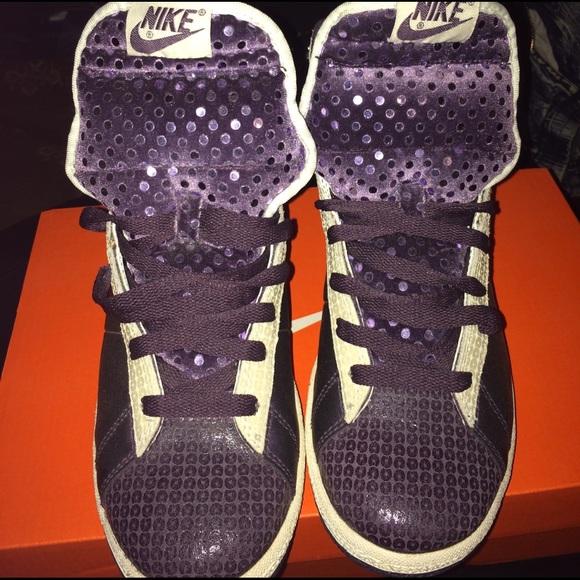 Women s Nike Purple Glitter Blazers Size 8 a655dc903ab6