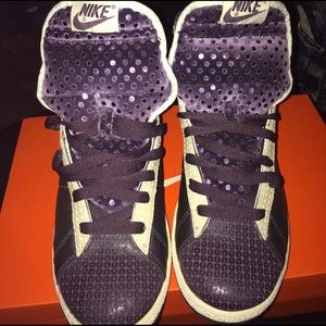 Women's Nike Purple Glitter Blazers Size 8