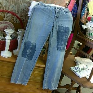 Moschino Artfully Distressed Jeans 28 Italy