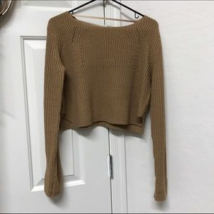 Sweaters - Cotton candy crop sweater