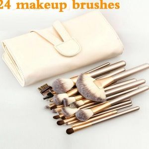 Other - New 24pcs High Quality Gold Makeup Brushes Set