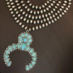 Navajo Squash Blossom Style Necklace