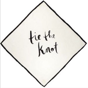 """kate spade Accessories - Kate Spade silk scarf """"tie the knot"""" 26"""" square"""