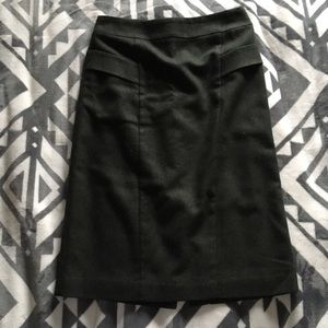 Ann Taylor Dark Green Wool Blend Skirt Size 00