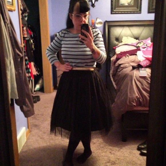 Xhilaration Skirts - Elastic waist black tulle skirt Sz S