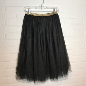 Xhilaration Dresses & Skirts - Elastic waist black tulle skirt Sz S