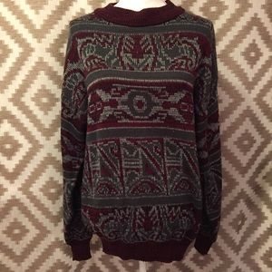 Vintage Patterned Oversized Sweater!