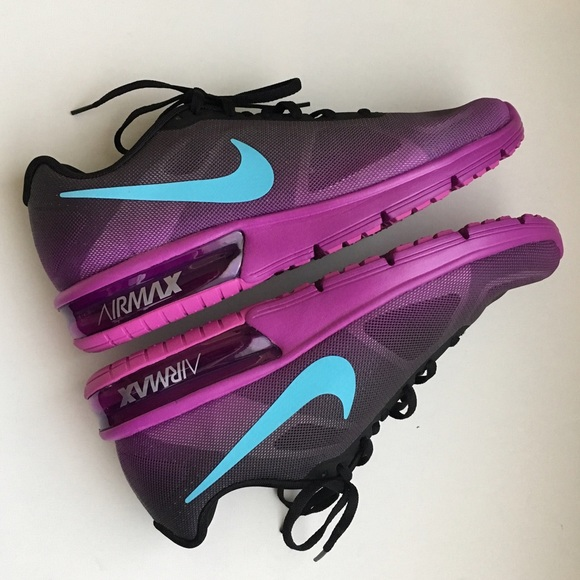 brand new 39737 3103b Nike Air Max Sequent Black Blue Purple NWT