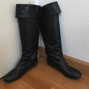 Knee high leather boots Fornarina