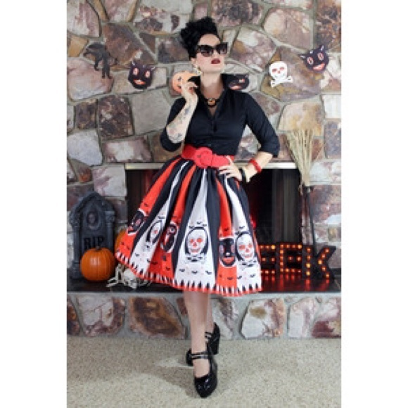 the oblong box shop Skirts - RARE Halloween Treat Skirt - The Oblong Box Shop L