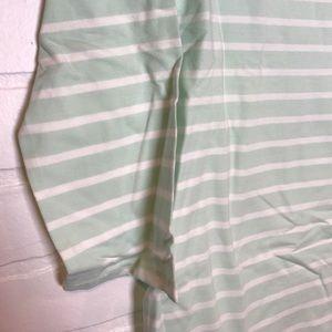 Merona Tops - Merona boatneck tee mint/white stripe M 3/4 sleeve