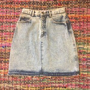 Vintage Dresses & Skirts - Made in the USA Vintage Acid Wash Jean Skirt