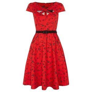 """Voodoo Vixen Dresses & Skirts - Voodoo Vixen """"Connie"""" dress HEMMED Sz L glasses"""