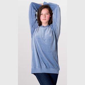 American Apparel Velour Sweatshirt, size small